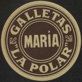 Galletas Maria. La Polar. Manresa. Color marró. Etiqueta rodona
