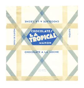 Chocolate a la leche. Chocolates La Tropical. Embolcall
