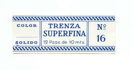 Trenza superfina. Color nº 16. Mida gran. Etiqueta