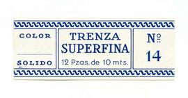 Trenza superfina. Color nº 14. Mida gran. Etiqueta