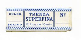 Trenza superfina. Color nº. Mida gran. Etiqueta