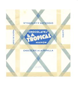 Chocolate a la vainilla. Chocolates La Tropical. Embolcall