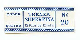 Trenza superfina. Color nº 20. Mida gran. Etiqueta