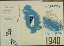 Zapatito Cenicienta 1940. Tríptic