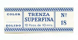 Trenza superfina. Color nº 18. Mida gran. Etiqueta