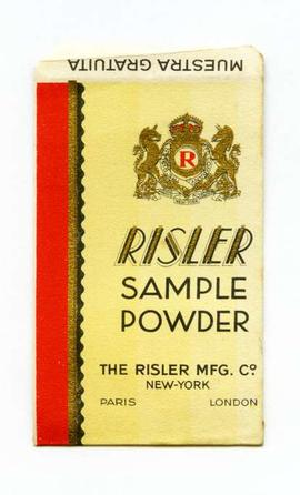 Risler sample powder. Parera. Sobre per a mostra